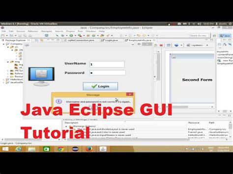 tutorial java calculator java eclipse gui tutorial 2 creating a simple calculator