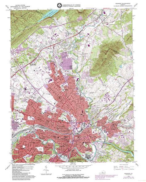 virginia topographic map roanoke topographic map va usgs topo 37079c8