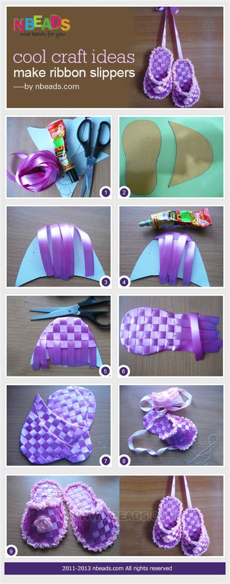 crafts cool cool craft ideas make ribbon slippers pictures photos