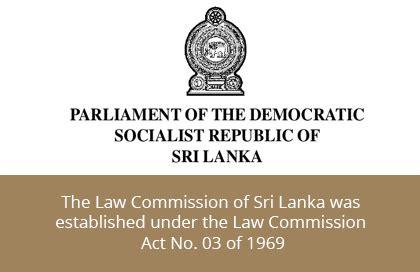 law commission law commission of sri lanka