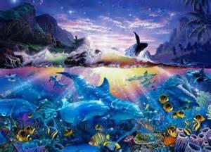 Dolphin Wall Murals ocean dance 169 christian riese lassen underwater mural