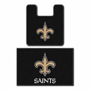 New Orleans Saints Bathroom Accessories Nfl Officially Licensed Nfl New Orleans Saints Bath Mat Set Football Bathroom Rugs Pricefalls