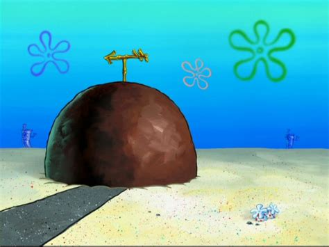 patrick s house spongebob french performance artist is going to spend a week inside a rock because art