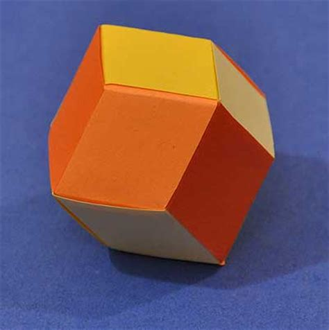 how to weave a rhombic dodecahedron