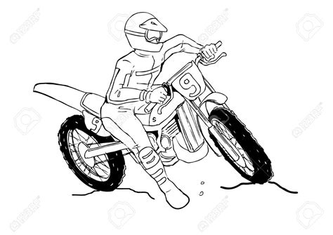 how to draw a motocross bike dirt bike drawing www imgkid com the image kid has it
