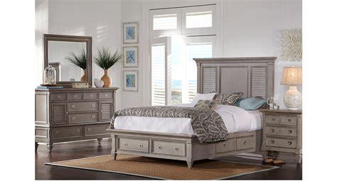 belmar gray  pc king panel bedroom  storage traditional