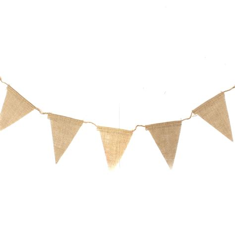 Wedding Banners And Bunting by 2 9m Vintage Country Hessian Burlap Bunting Banner Flags