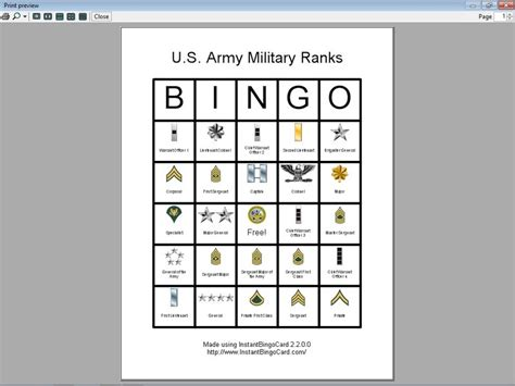 printable veterans day bingo cards 8 best images of military bingo printable coast guard