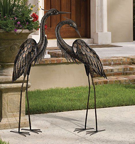 Regal Home And Garden Decor by Regal Gift Bronze Heron Standing 45 Inch Home
