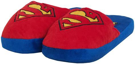 superman slippers superman logo dc comics mens plush