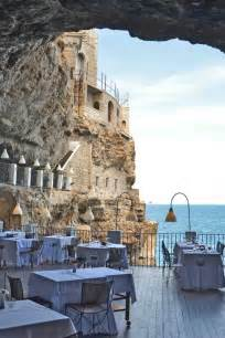 cave restaurant side of a cliff italy puglia italy restaurant and caves on pinterest