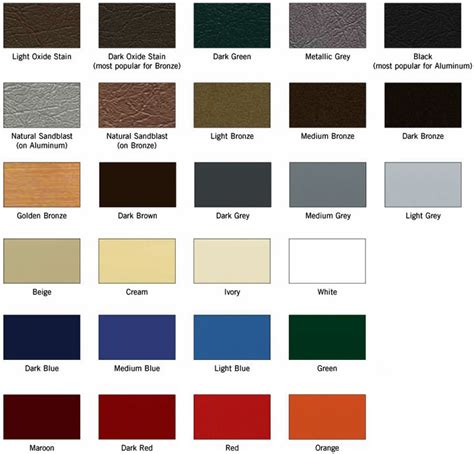standard paint colors matthews bronze international