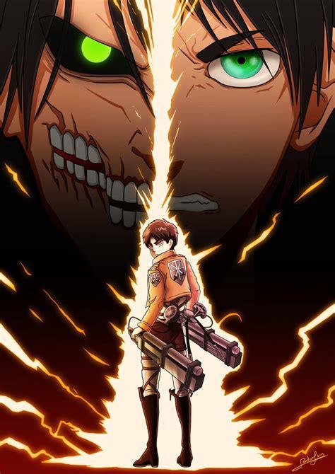 Eren Titan At Attack On Titan attack on titan shingeki no kyojin eren jaeger by
