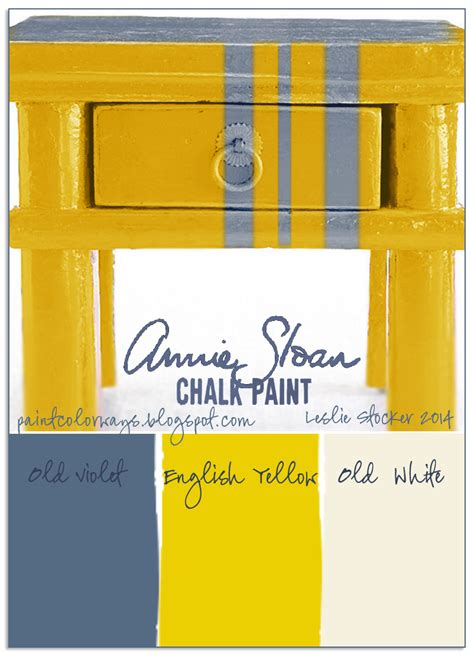 chalk paint glossy finish colorways violets and daffodils