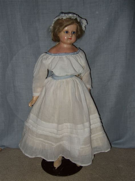 large composition doll antique large wax composition doll