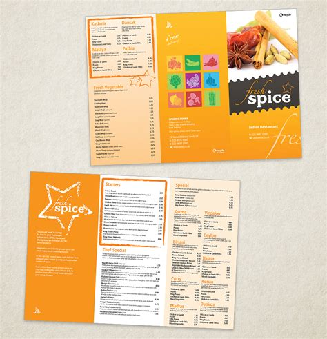 Indian Restaurant Menu Template Designs Exclusive Menu 804 Indian Menu Template Free