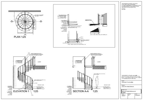 stair section detail dwg spiral staircase detail drawings autocad on behance