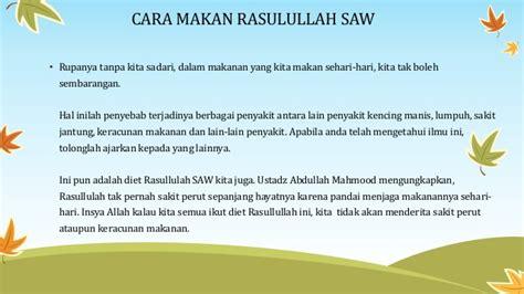 Keajaiban 9 Sunnah Rasulullah Saw cara makan rasulullah saw