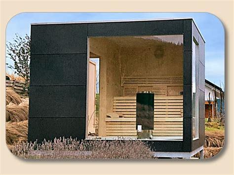 design aussensauna saunahaus modern mit trespa hpl und glasfront holzon de