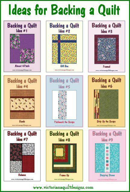 Quilt Backing Ideas ideas for backing a quilt letsquilt quilting