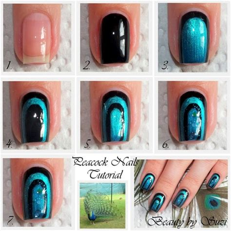 nail art design video tutorial peacock nail art design tutorial alldaychic