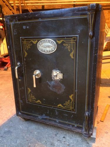 antique victorian cast iton whitfields safe vintage