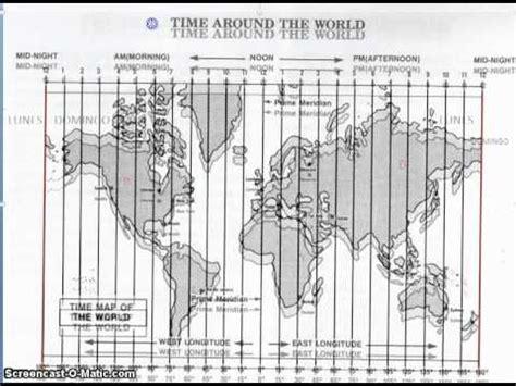 imagenes husos horarios jpg coordenadas y husos horarios 2 youtube