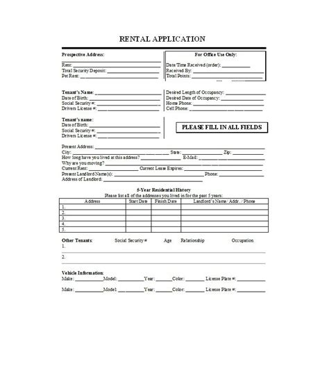 Rental Application Credit Check Template 42 Rental Application Forms Lease Agreement Templates