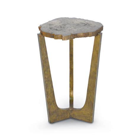 Petrified Wood Side Table Petrified Wood Tripod Side Table Mecox Gardens