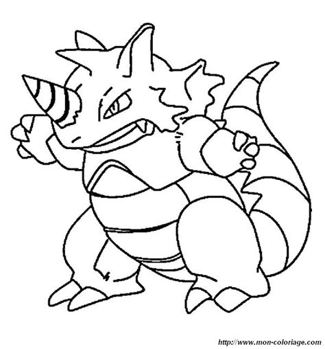 pokemon coloring pages rhyperior colorear pok 233 mon dibujo rinoceronte rhydon