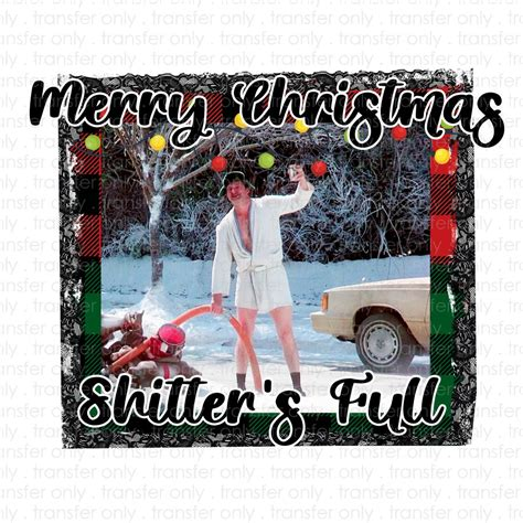 merry christmas cousin eddie sublimation transfer wills creek designs