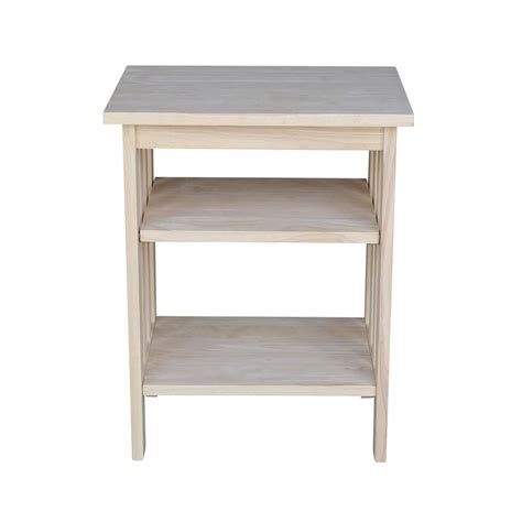 unfinished wood end tables international concepts unfinished storage end table ot
