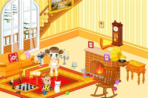 doll house living room decorations game decorating games