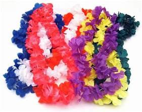 Lei Hawaiian Flowers - hawaiian silk flower leis luau party decoration packages