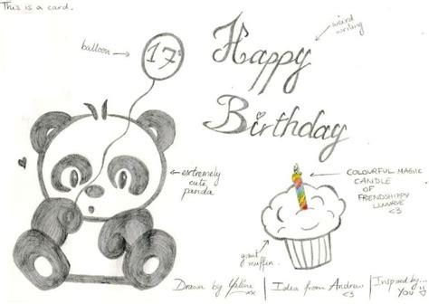 Birthday Card Drawings Panda Birthday Card By Kaydeeyaleni On Deviantart