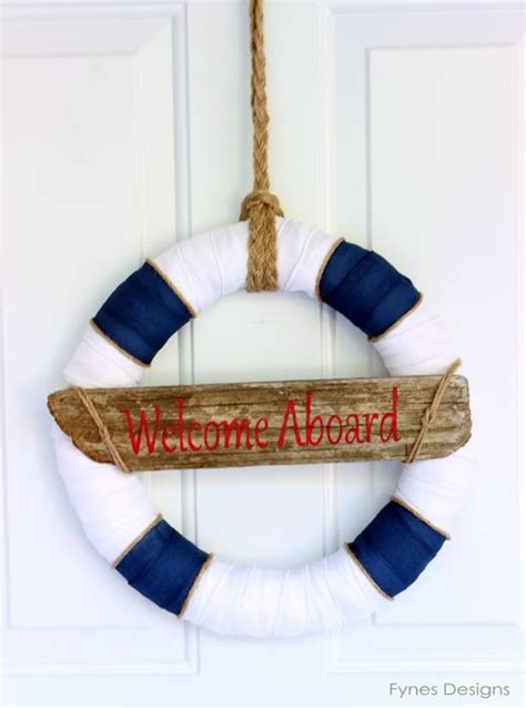 nautical decoration nautical decor wreath inspired by lunenburg nova scotia