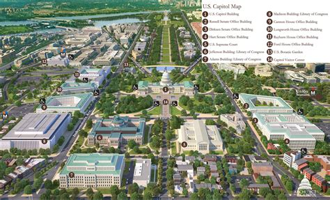 washington dc map of government buildings print friendly map of capitol hill architect of the