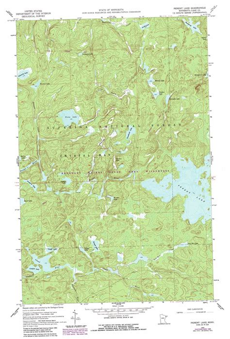 minnesota topographic map perent lake topographic map mn usgs topo 47091g2