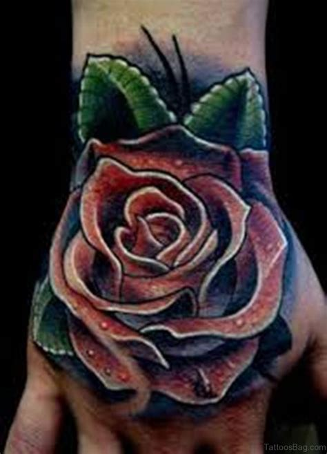 rose tattoos on hands 61 looking flowers on