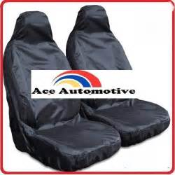 Waterproof Car Seat Covers Ebay Toyota Rav 4 02 06 Front Black Waterproof Car Seat Covers