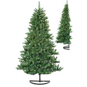 bavarian half wall medium pre lit christmas tree do not