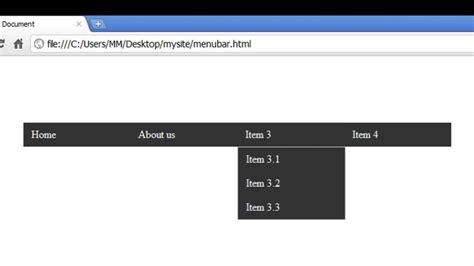 tutorial membuat dropdown menu spry menu bar horizontal dreamweaver cs 5 5 5 tutorial horizontal spry menubar