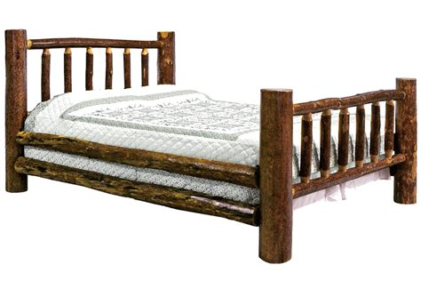 queen log bed glacier log bed queen