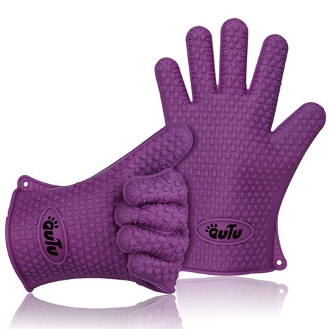 Kitchen Gloves by 2x Barbecue Heat Resistant Silicone Gloves Oven Kitchen