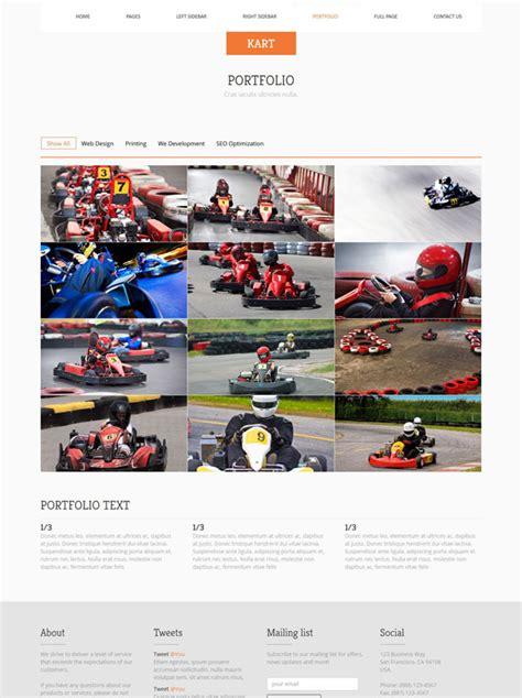 go kart template karting website template go kart racing website