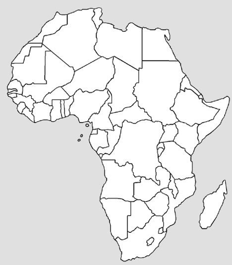36 best africa map outline images on best photos of africa map outline and white africa map