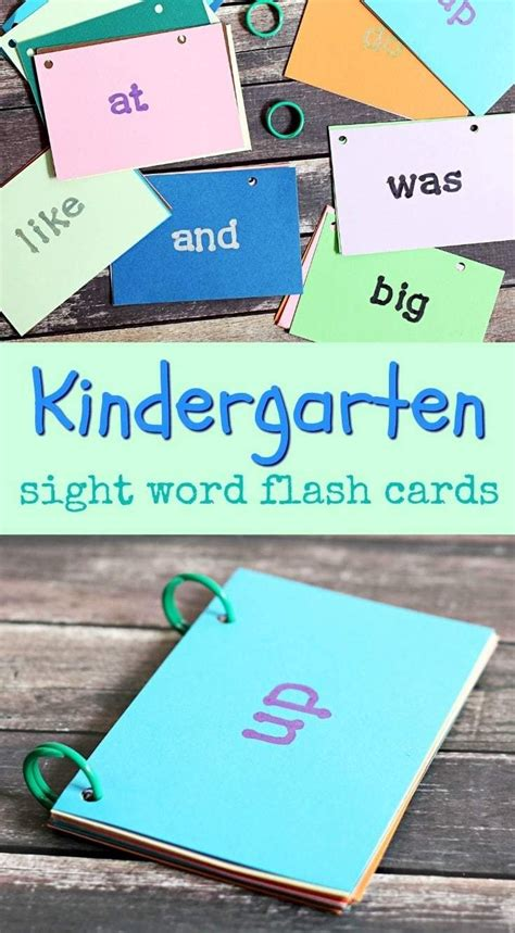 how to make flash cards in word diy kindergarten sight word flash cards kindergarten
