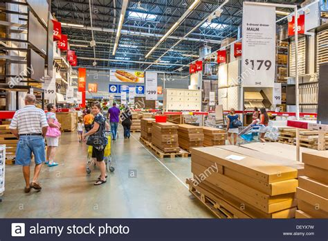 Customer Inside Warehouse Part Of Ikea Home Store Stock | customers inside warehouse part of ikea home store stock