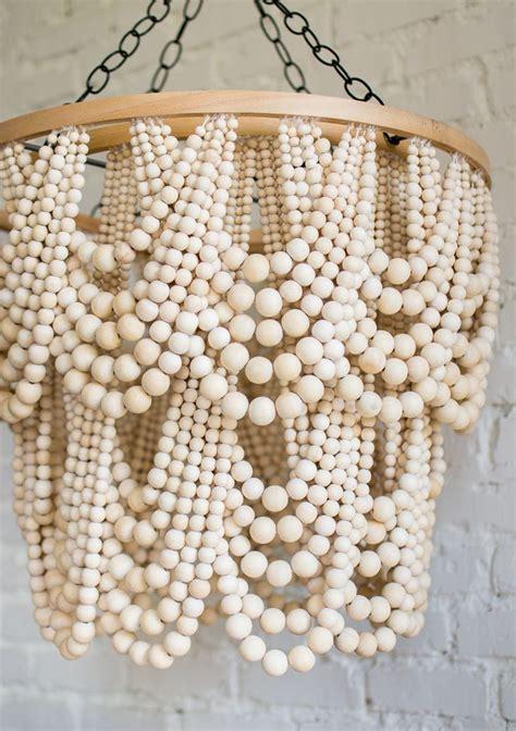 Bead Chandelier Diy Best 25 Bead Chandelier Ideas On Wooden Beaded Chandelier Wood Bead Chandelier And