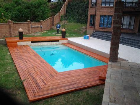 Pond Deck Designs by Inground Swimming Pool Designs Ideas